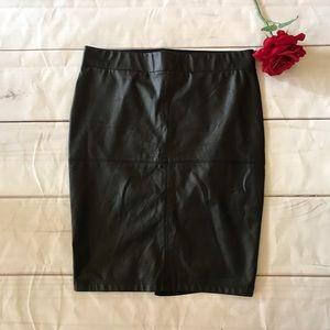 Torrid Black Faux Leather Pencil Skirt Size 1X
